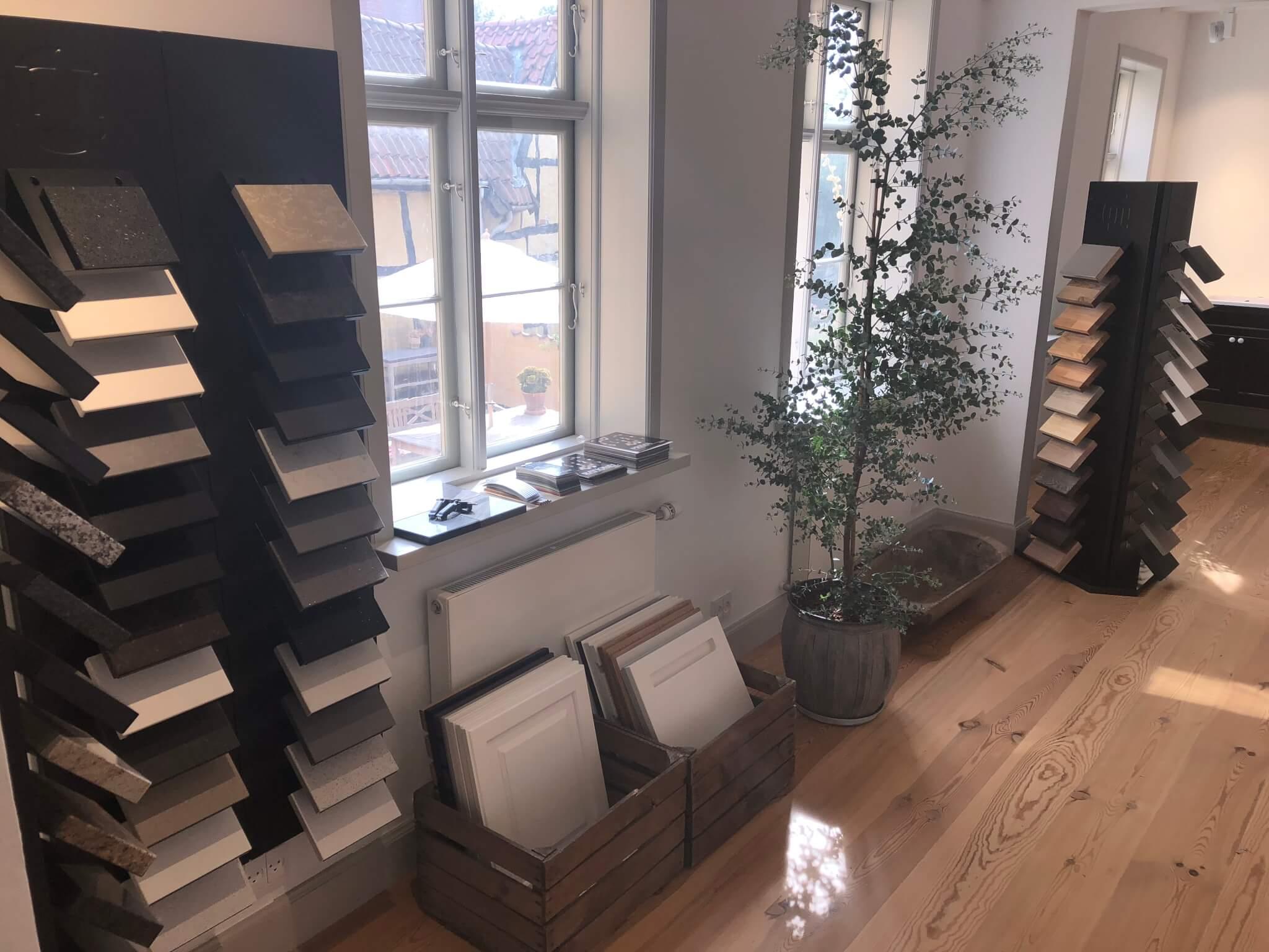 Styling af butikslokale, køkkenfirma