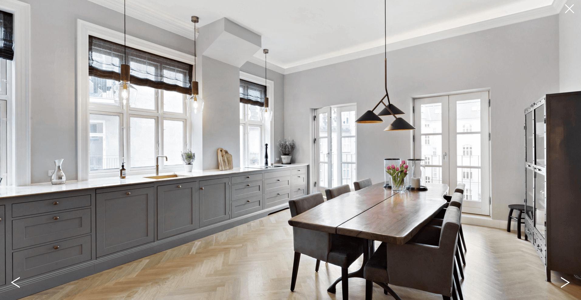 Køkken efter renovering