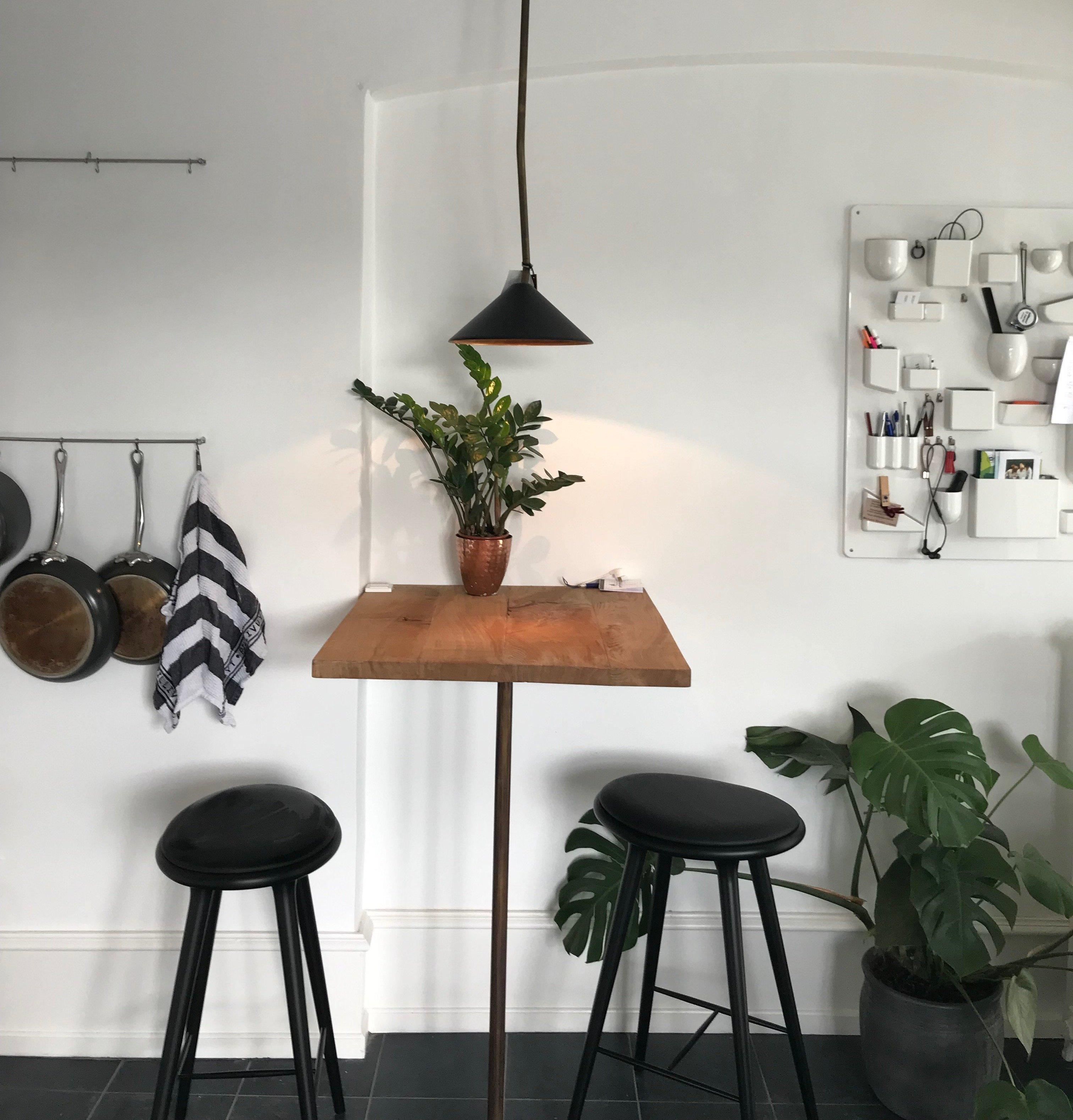 Hyggelig siddeplads i køkkenet