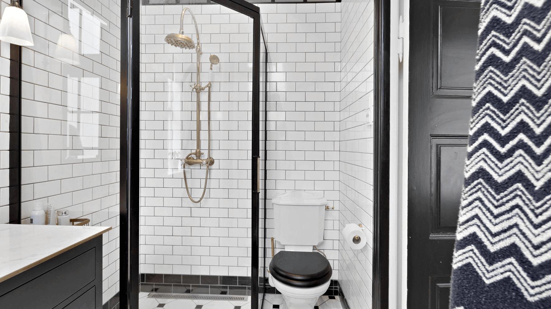 Badeværelset efter totalrenovering