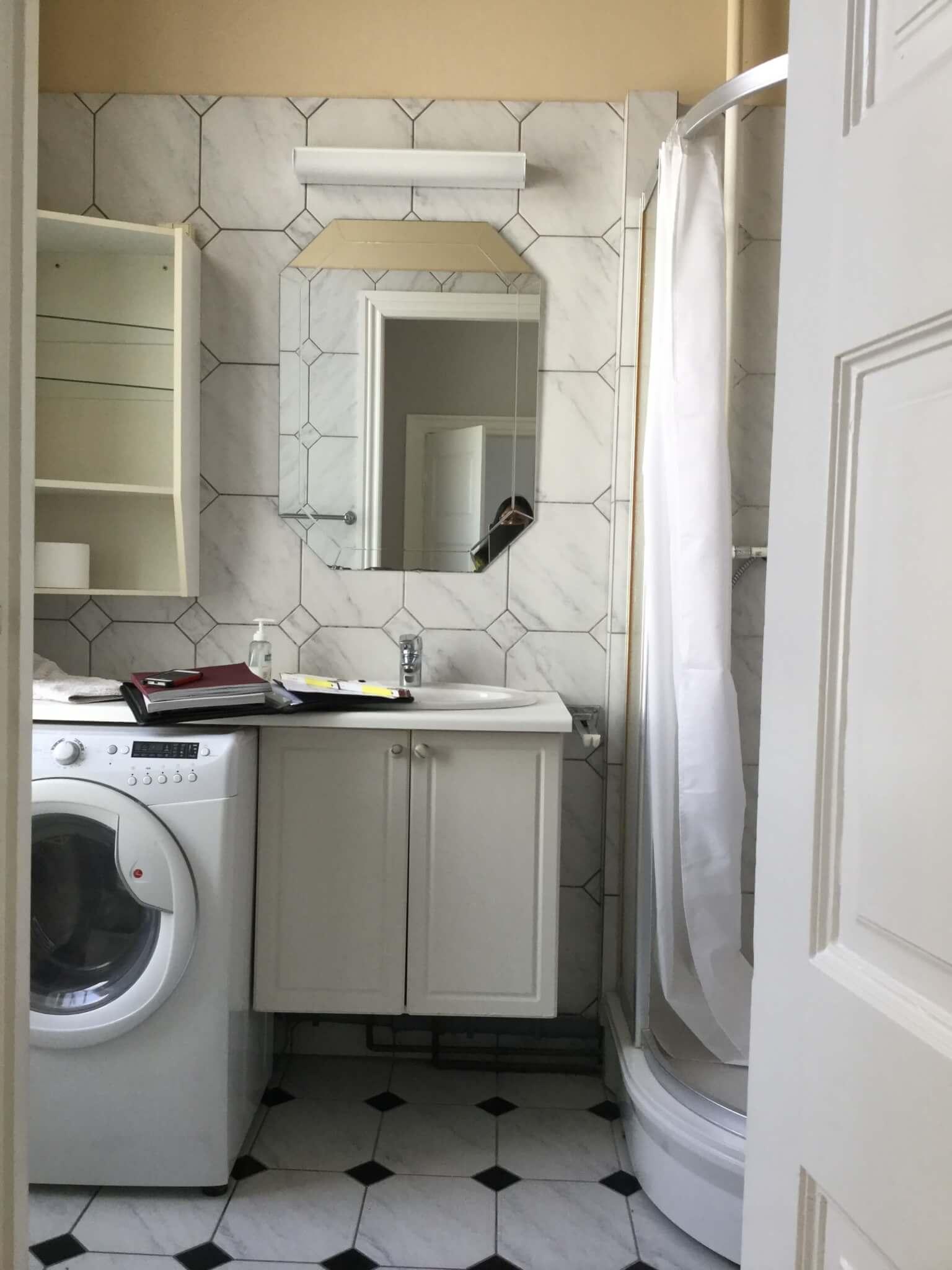 Badeværelset før renovering