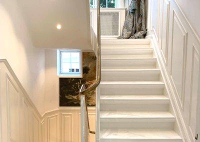 Mellemgang og trappe